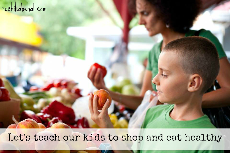 teach our kids healthy shopping with website